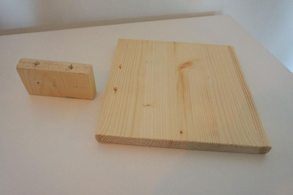 DIY krabplank twee plankjes