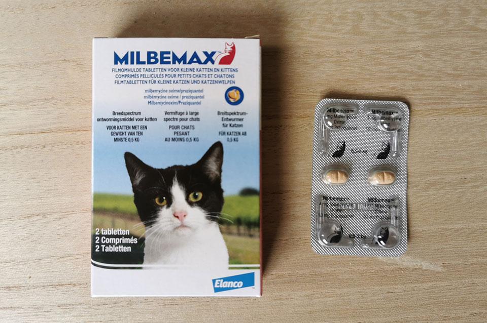 Ontworm pillen voor kittens Milbemax